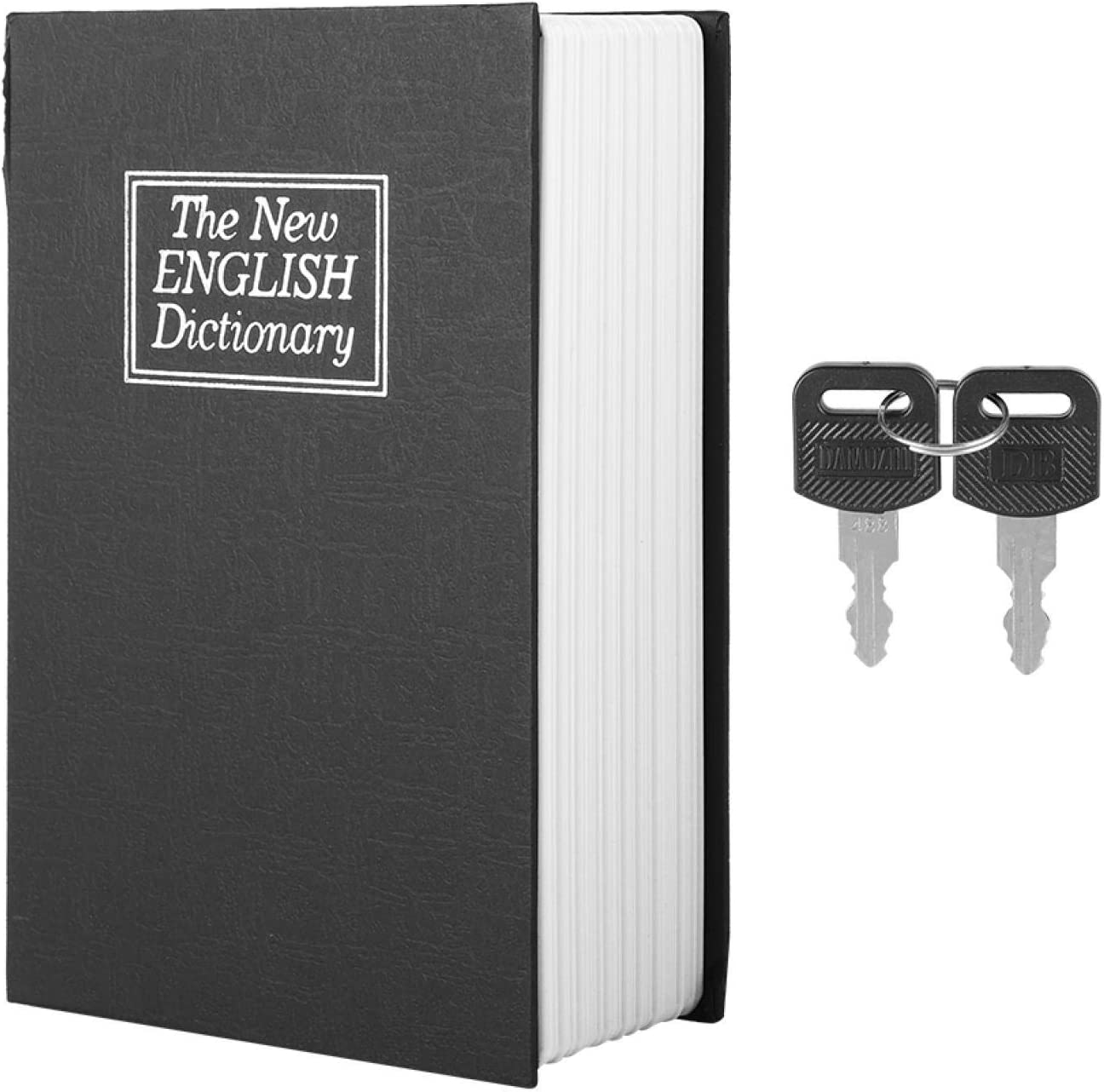Black English Dictionary Book Safe Box 67% OFF of fixed price Keys with 2 Max 76% OFF Sec Portable