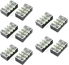 uxcell Dual Rows 10 Positions 600V Wire Barrier Block Terminal Strip Connector 600V 25A 3P