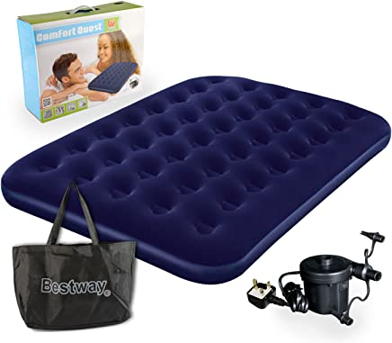 Bestway Comfort Quest Double Flocked Air Bed With Pump