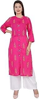 Antarmana Fashions Pink Cotton Kurti Palazzo Set For Women. PCS-12