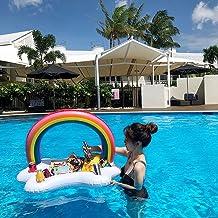 ANAC Bandeja hinchable para servir, para piscina, fiesta, arcoíris, ensalada, bebida, hielo, vino, frutas, portátil, para fiestas y barbacoas.