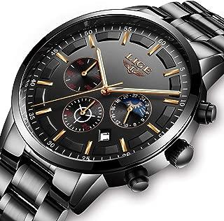 メンズ腕時計 人気ウォッチ ステンレススチール アナログ クオーツ 防水ウォッチ 日付表示 ファッション カジュアル ビジネス 男性用 時計 ローズゴールドブラック