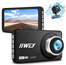"""【Updated HD 720 Rear Cam】 Dual Dash Cam for Cars Front and Rear Full HD 1080P, 170 °Wide Angle Dashboard Camera with Night Vision, 4"""" IPS Screen Car Camera, G-Sensor Motion Detection Parking Monitor"""