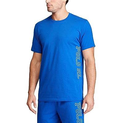 Polo Ralph Lauren Knit Jersey Short Sleeve Logo Crew (Blue Saturn) Men