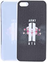 Youyouchard BTS Kpop Bangtan Boys Love Yourself Phone Case Protection for Samsung iPhone J A with A Anti-Radiation Sticker(iPhone5 /5s/se Black)