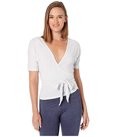 New Balance Balance Two-Way Wrap Top (Sea Salt Heather) Women