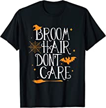 Witch Halloween Gift Funny Broom Hair Don't Care Teacher T-Shirt