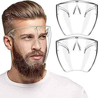 Clear Face Mask Shield - Silicone Transparent Adjustable Durable Reusable Washable,Compatible with Glasses and Other Face ...