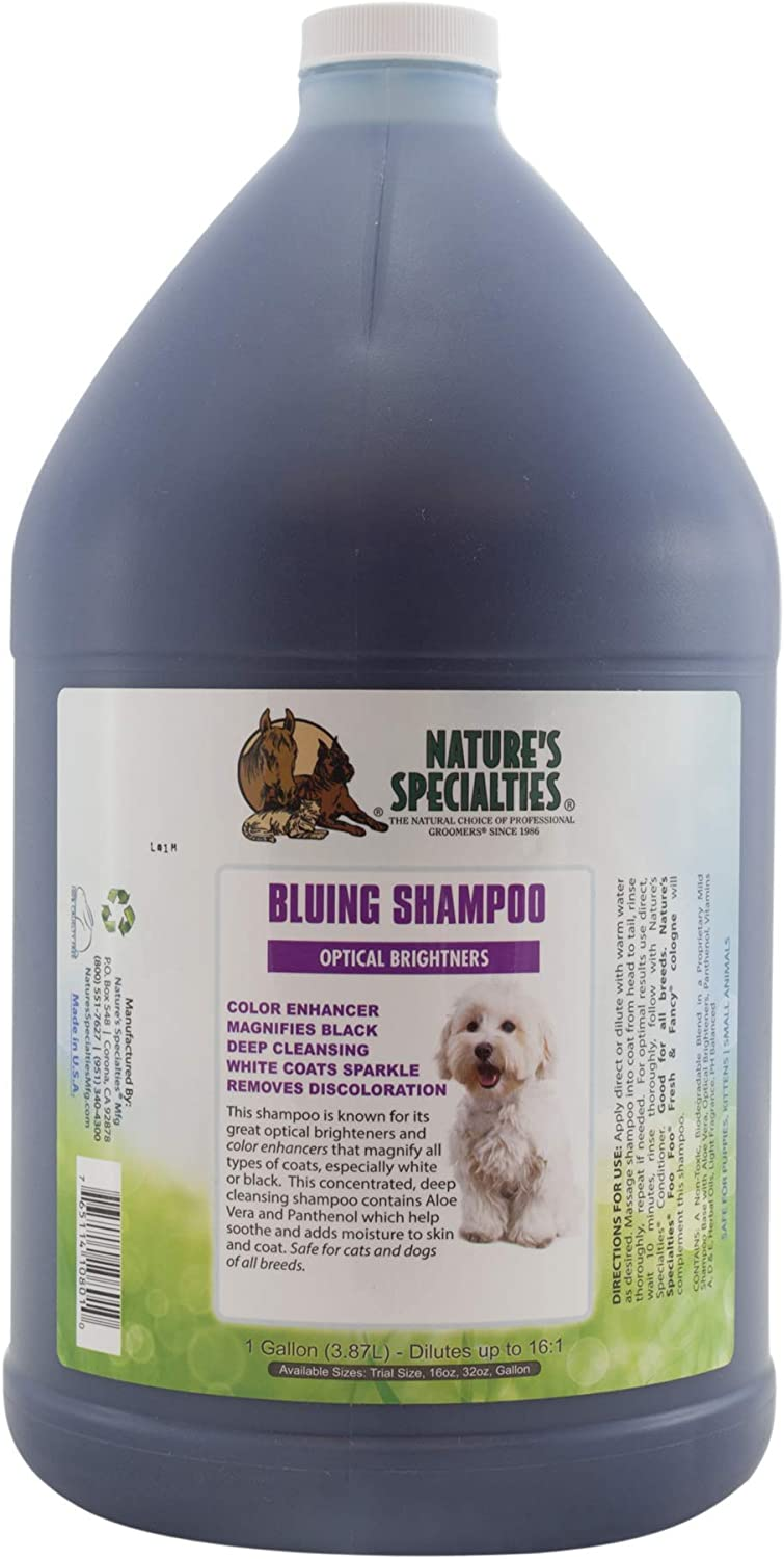 Nature's Specialties Bluing Optical Lowest price challenge Brightners Omaha Mall Dogs Shampoo for