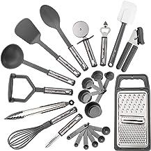 Kitchen Utensil Set – 23 Nylon and Stainless Steel Cooking Utensils - Kitchen Gadgets - Kitchen Utensil Spatula Set - Non ...