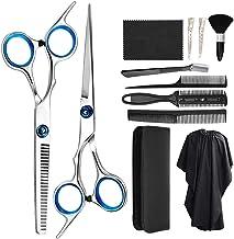 Zorssar Hairdressing Scissors Shears Set 11 Pcs - Professional Haircut Hair Cutting Scissors Kit,Stainless Steel Scissors,...