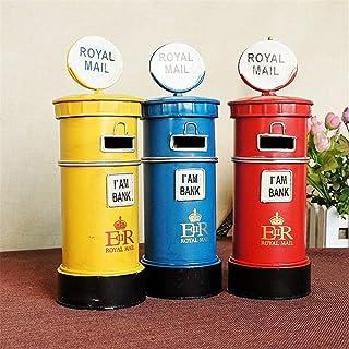 BESTOMZ Buz/ón Banco de Correos Caja de Dinero Banco de Monedas Banco de Correos de Londres Londres Decoraci/ón del hogar Amarillo