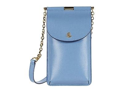 LAUREN Ralph Lauren Phone Bag Crossbody Mini (Blue Mist) Cross Body Handbags
