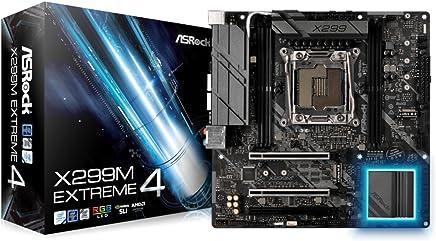 ASRock LGA2066/ Intel X299/ DDR4/ Quad CrossFireX & SLI/ SATA3&USB3.1/ M.2/ MicroATX Motherboard (X299M EXTREME4)