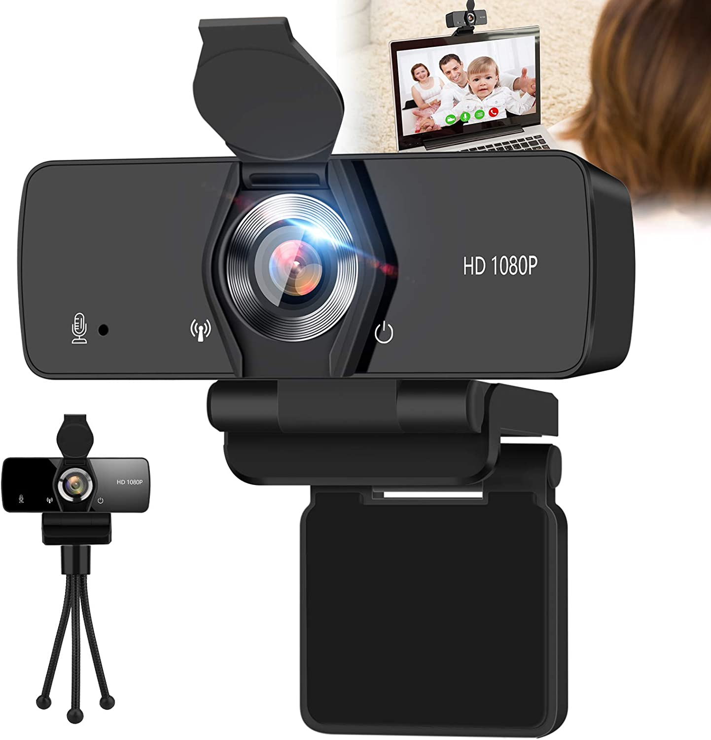 Webcam with Microphone IPXOZO 1080P Web for Limited time cheap sale De Camera USB Very popular
