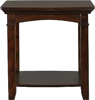 Standard Furniture Glasgow Rectangle End Table, Dark Cherry Brown