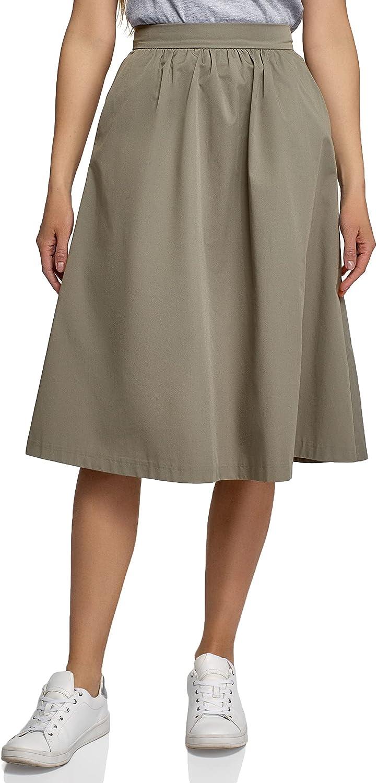 oodji Ultra Women's A-Line Midi Skirt