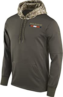 Nike 2017 Chicago Bears NFL Salute to Service Hoodie Pullover (X- Large) Olive