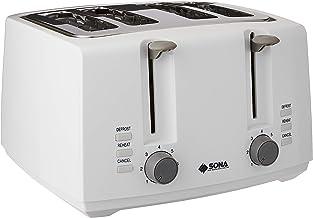 SONA 4 Slices Toaster, White, (STO 2205)