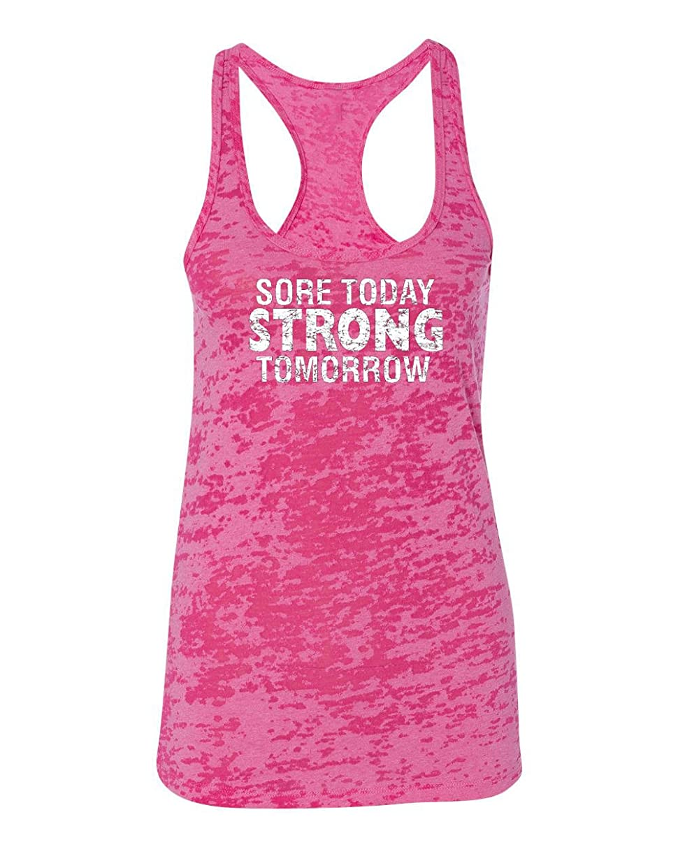 Womens Workout Tanks - Sore Today Strong Tomorrow - Tops with Sayings by Echona Apparel