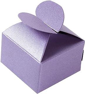 50 presenthjärtformade godisaskar till bröllopsfest
