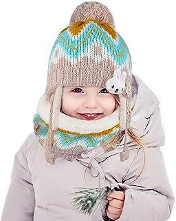 JTENG Bambino Cappello Sciarpe Autunno Invernale Carina Piccolo Beanie Cappelli Berretto Bambini Infantili del Cappello pe...