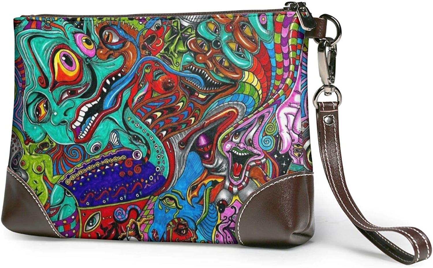 A surprise price is realized Abstract Monster Clutch Purses Wristlet New life Leather Pu Wallet