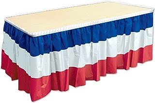 Beistle 52170-RWB Patriotic Table Skirting, 29