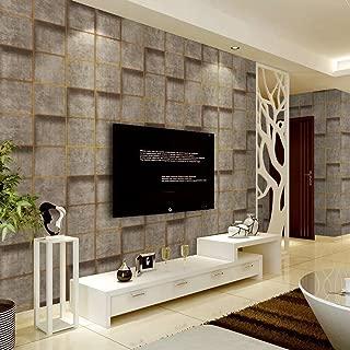3Dの壁紙モダンなミニマリストアンティークのレンガのパターンディアスキンのカシミアの壁紙は、救済の壁を厚くするBuy one three Free One (Color : Dark brown)