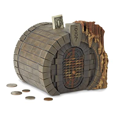 Enesco The Wizarding World of Harry Potter Gringotts Vault Coin Bank, 6.26 Inch, Multicolor