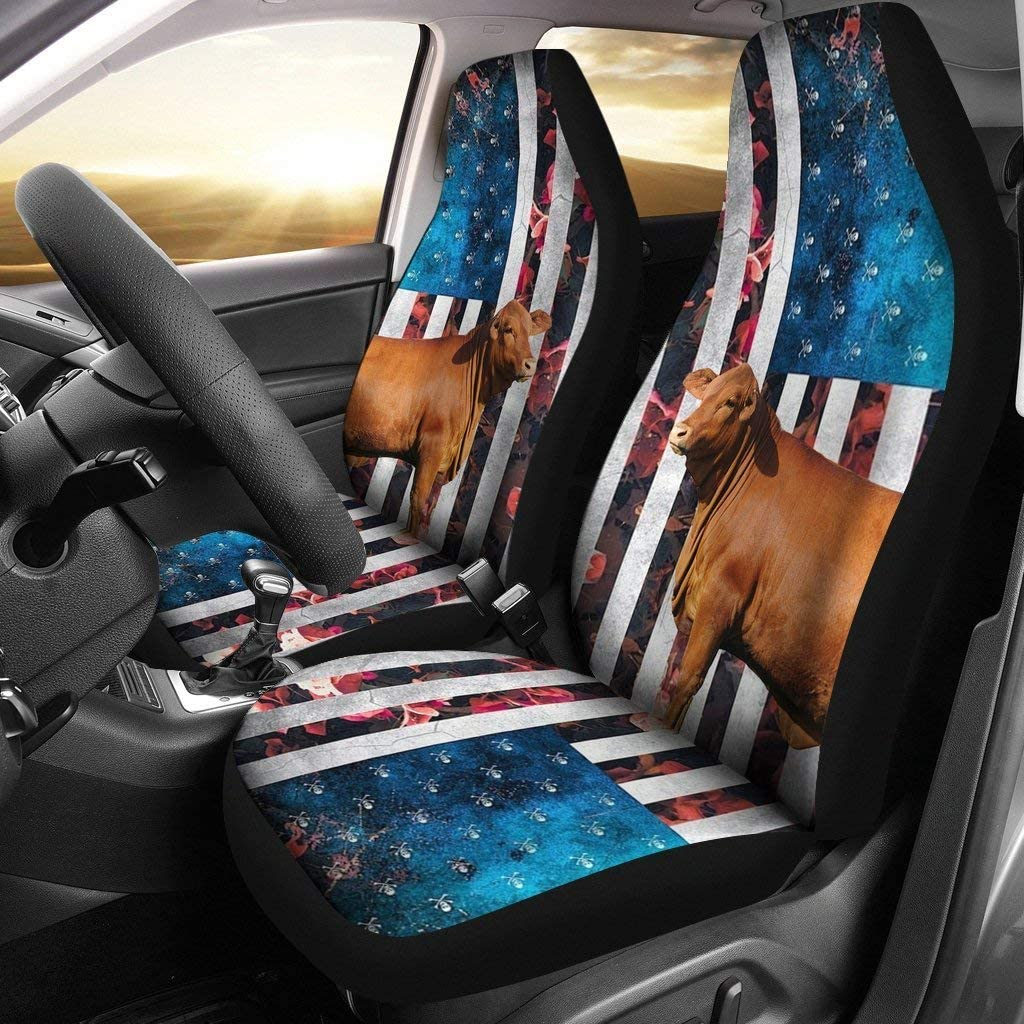 Pawlice Special price for a limited time Red Brangus Cattle Cow Print Covers Max 58% OFF Seat Car