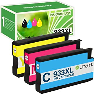 Limeink Compatible Ink Cartridge Replacements for HP 932XL & 933XL High Yield (1 Cyan / 1 Yellow / 1 Magenta, 3 Pack)