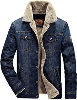 Sherpa Lined Denim Jacket Men's Jeep Jacket Outdoor Keep Warm in Autumn and Winter