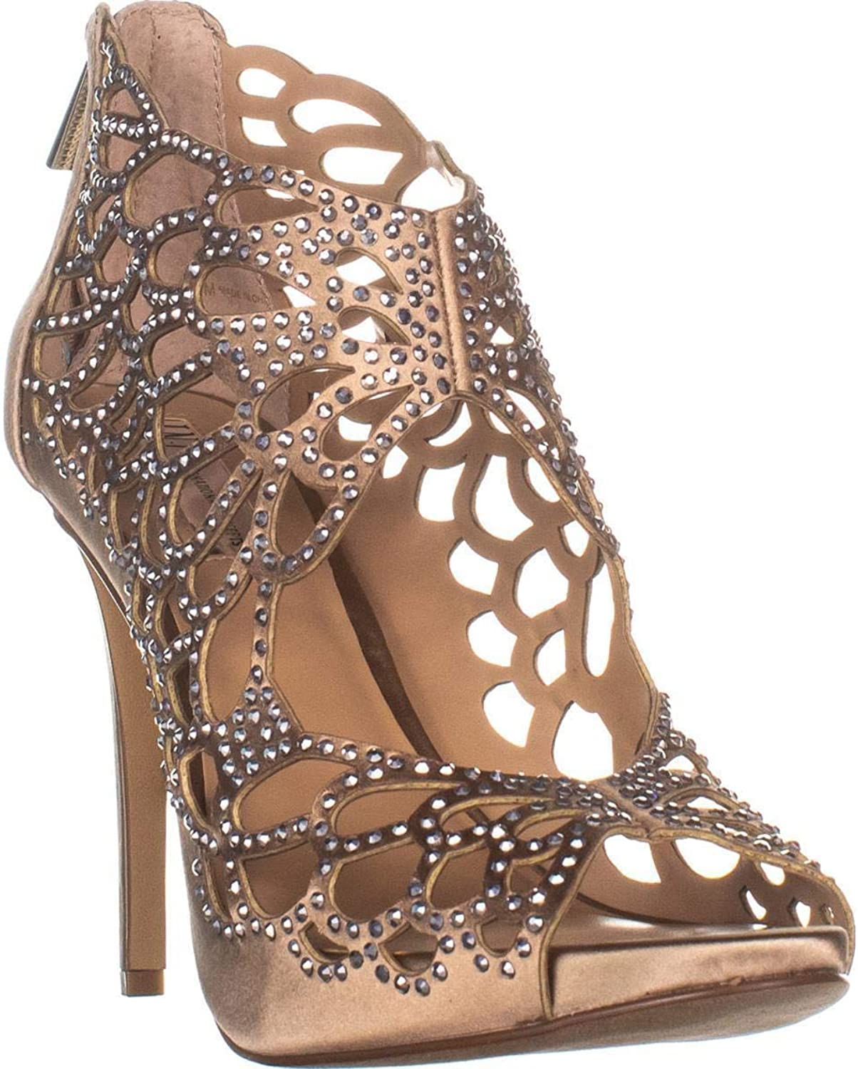 INC International Concepts Womens SARANE Fabric Open Toe Formal Strappy Sandals