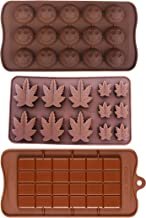 Silicone Lollipop Gummy Brownies Had Candy Cannabis Weed Edible Leaf Mold Ice Cube Marijuana Chocolate Soap Candle Tray Party Maker Brown (Marijuana_Smiley_Bar)