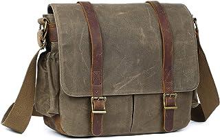 BAWADE 2020 SLR-Kameratasche, wasserdichte Leder Wachs-Segeltuchtasche Vintage Kameratasche Messenger Bag für Damen/Herren