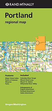 Rand McNally Portland, Oregon/Washington Regional Map