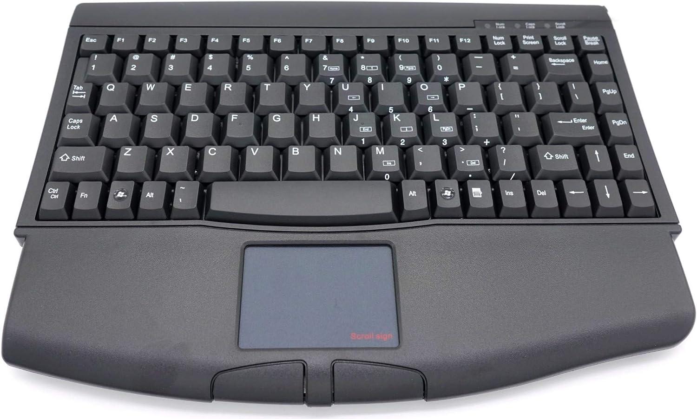SolidTek Mini Keyboard with Touchpad USB Interface Black KB-ACK540UB
