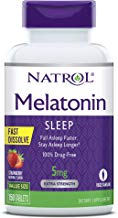 Natrol Melatonin Fast Dissolve Tablets, Helps You Fall Asleep Faster, Stay Asleep Longer, Easy to Take, Dissolves in Mouth, Faster Absorption, Strawberry Flavor, 5mg, 150Count