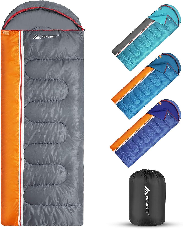 Forceatt Sleeping Bags Fashion for Adults 3 Season Bag Max 78% OFF Camping