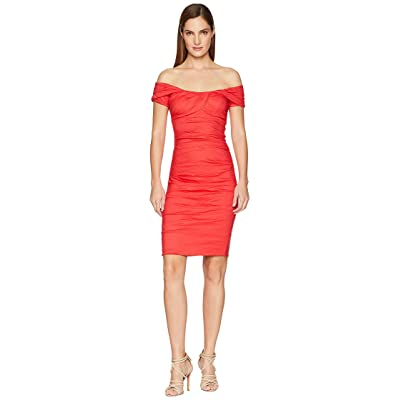 Nicole Miller Off the Shoulder Dress (Watermelon) Women