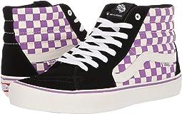 (Checkerboard) Black/Dewberry