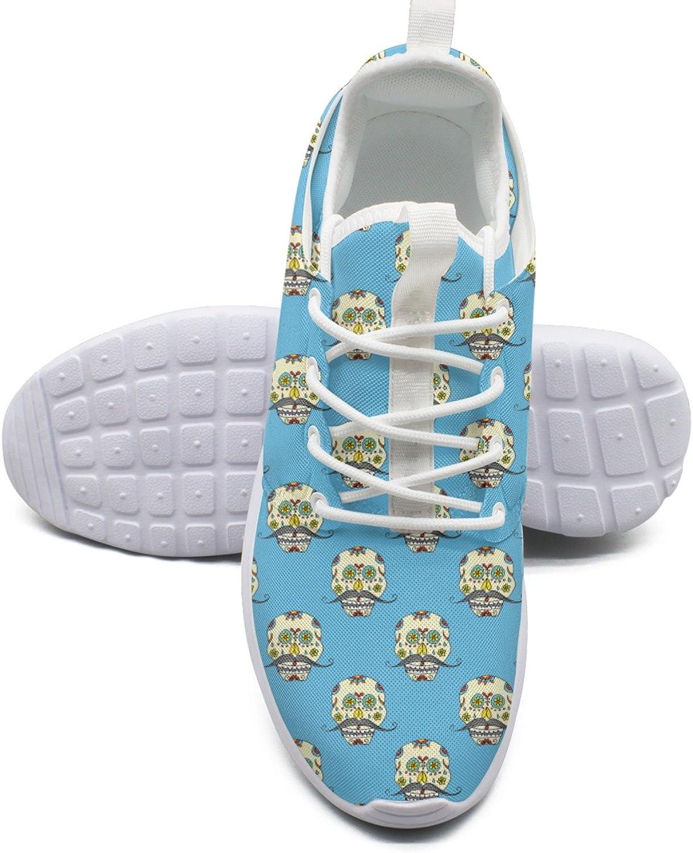 Day Of Dead Handdrawn Skull Women's Fashion Tennis shoes Retro Mesh Lightweight Running Sneakers