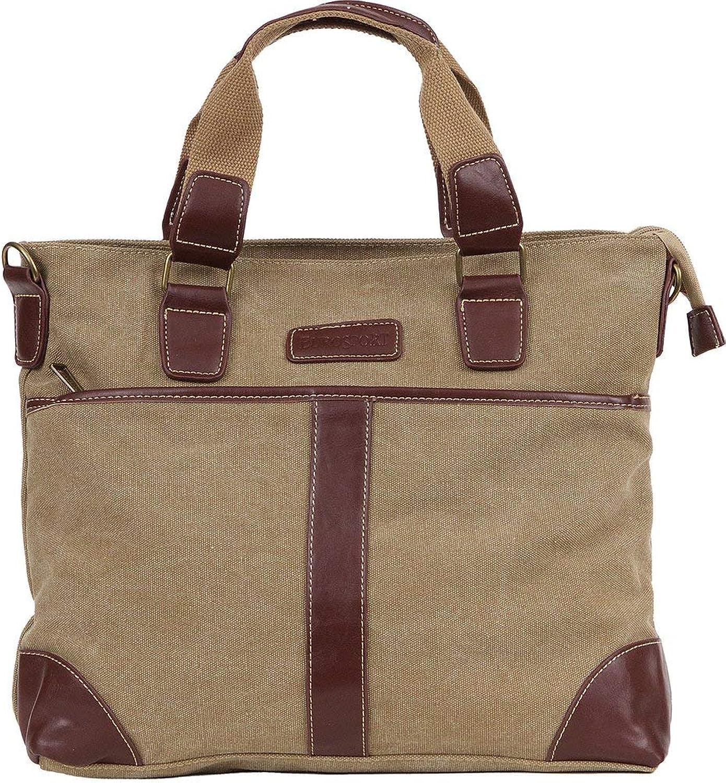 Eurosport Khaki Messenger Purse Canvas Bag B413 Multi Pockets Removable Adjustable Strap
