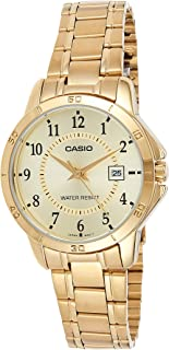 Casio Watch For Women White Dial Stainless Steel Band - LTP-V004G-9B