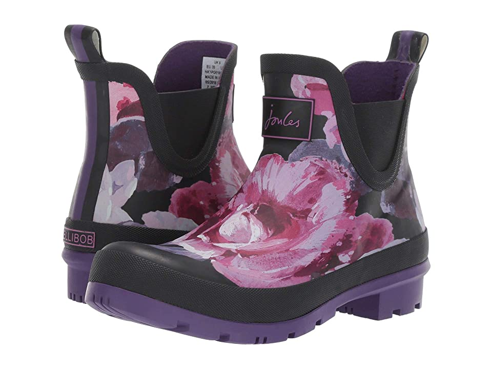 Joules Wellibob Chelsea Boot (Black Winter Floral) Women