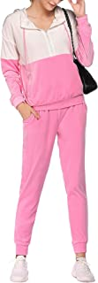 Womens Tracksuit Set Casual 2 Piece Jogging Suit Outfits Long Sleeve Velour Sweatsuits