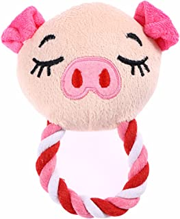 Pet Plush Toys Dog Chew Toys Puppy Cats Cute Biting Sound Squeaky Toys Cartoon Pig Design