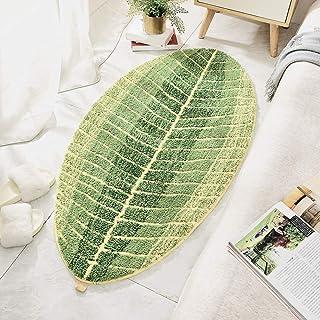 Yosoo Door Mat Leaf-Shaped Green Non-Slip Floor Mat Entrance Non-Slip Door Mat for Home Living Room Bedroom Bathroom Hotel...