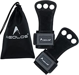 AEOLOS Leather Gymnastics Hand Grips-Great for Gymnastics,Pull up,Weight Lifting,Kettlebells and Crossfit Training